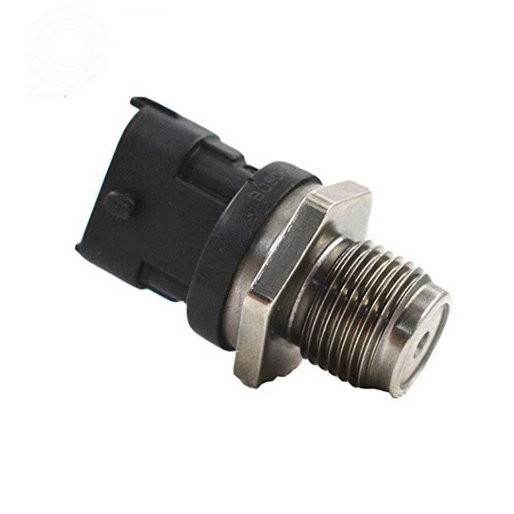 NANA-AUTO Fuel Rail Pressure Sensor For LBZ LMM 6.6L Sierra/Silverado Duramax OE#0281002971