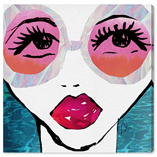 (The Oliver Gal Artist Co. Ready for The Water by Oliver Gal | Contemporary Premium Print. The Fashion Wall Decor Collection. 16x16 inch, Pink Canvas Art 16