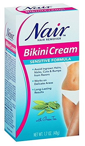 51515DRnaOL Nair Hair Remover Bikini Cream Sensitive 1.7 Ounce (50ml) (2 Pack)