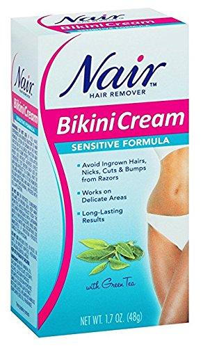 Nair Hair Remover, Sensitive Formula, Bikini Cream With Green Tea, 1.7 fl oz by Nair