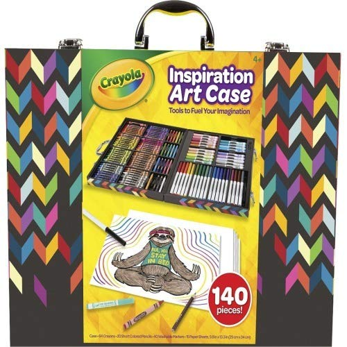 Crayola Imagination Inspiration Art Case 140Piece, Art Set, Gifts for Kids, Age 4, 5, 6, 7