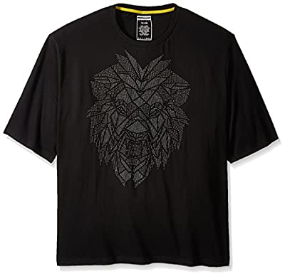 Sean John Men's Big and Tall Short Sleeve Roaring T-Shirt