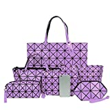 Best Press Lavenders - Diamond Lattice Bags Geometry Handbag Totes 6 Set Review