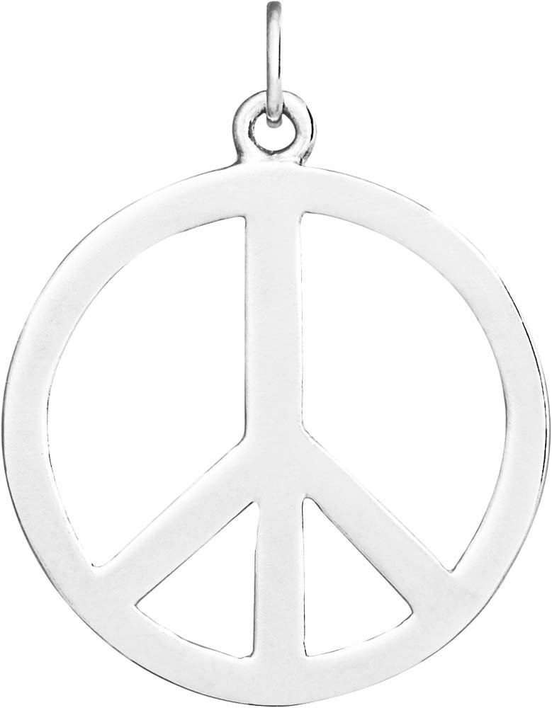 Helen Ficalora Large Peace Sign Cutout Charm Sterling Silver