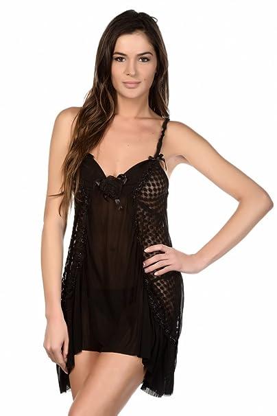 Just For Victoria - Conjunto de lencería - para mujer negro L