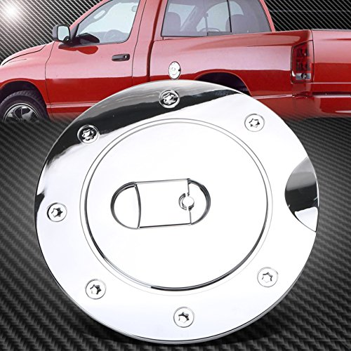 (Kawayee Triple Chrome Plated ABS Fuel Tank Gas Door Cap Cover for 2009-2017 Dodge Ram 1500/2500/3500)
