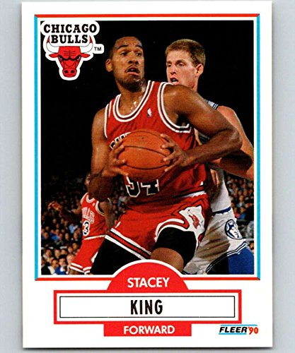 1990-91 Fleer #27 Stacey King RC NM-MT Chicago Bulls Officially Licensed NBA Basketball Trading Card