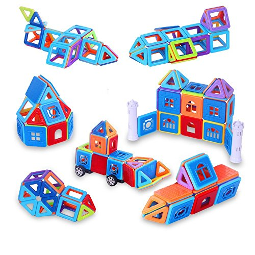 Magnetic Building Blocks Set of 84 Pcs - Creative Educational Mini Magnetic Blocks Toys for Kids