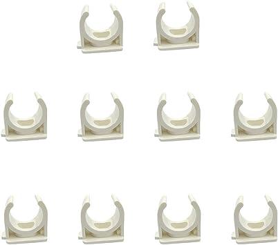 Sinmova 10PCS 20mm U Type Colliers de Tuyau Conduit Raccords Blanc