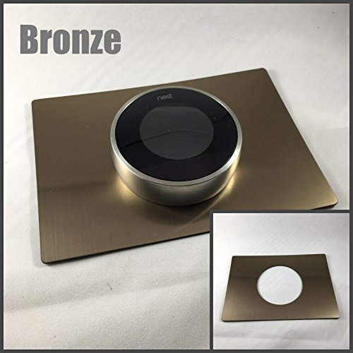Decorative Rectangle Nest Thermostat Wall Plates (Bronze)