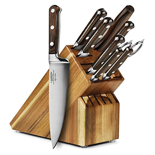 Lamson Signature Forged 10-piece Acacia Knife Block Set by Lamson (Image #6)