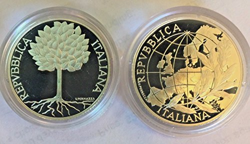 IT 2003 Italy 2003 Silver Proof Coins Set 5 & 10 Euro Peo Good