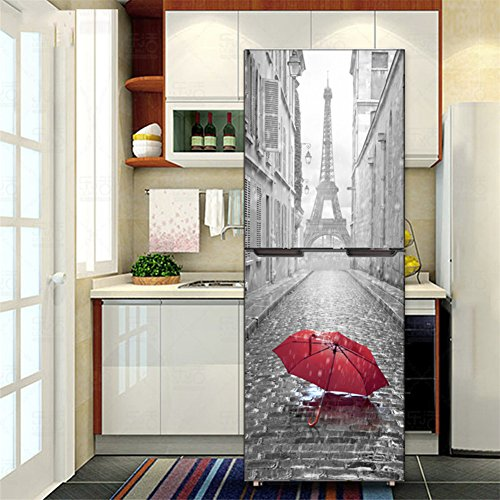 Kelay Fs 3d Door Fridge Stickers Wall Mural Self Adhesive Door Wallpaper Murals Stickers Full Door Cover Refrigerator Stickers Wall Decal Hallway