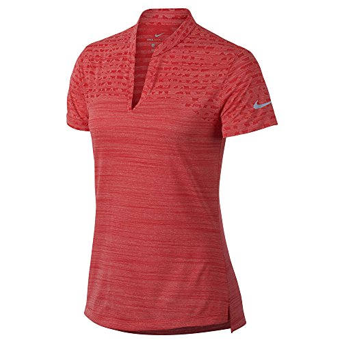 Nike Zonal Cooling Shortsleeve Jacquard Golf Polo 2018 Women Tropical Pink/Flat Silver Small