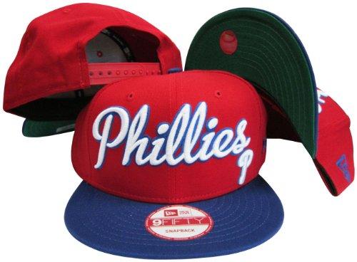 Philadelphia Phillies Maroon/ Powder Blue Two Tone Plastic Snapback Adjustable Plastic Snap Back Hat / Cap