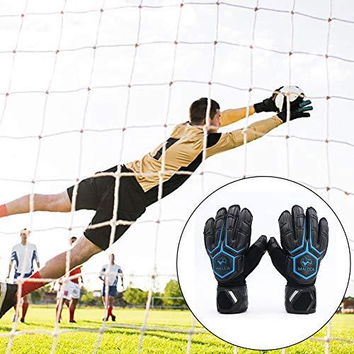 Fingertip Goalkeeper Glove - Santree Goalkeeper Gloves Football Goalkeeper Training Secure Gloves Latex Adult with Fingertips Non-Slip Thickening Goalkeeper Gloves Unisex