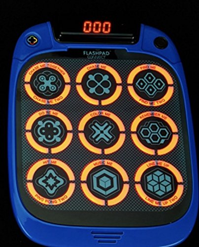 FlashPad Connect Touchscreen Game with Lights (Ages 3+) Nine Built-in Games - Blue
