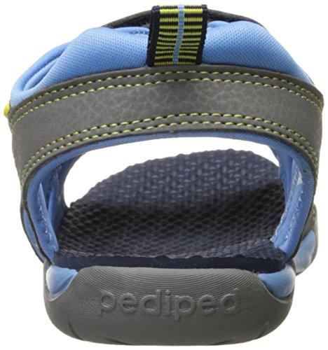 pedipedNavigator - Sandalias de Punta Descubierta para chico Blue (Navy Yellow)