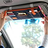 Sun Visor Storage Pouch Car-styling Sunshade CD Card Holder Multi Function Phone Hanging Bag Auto Stowing Tidying Car Organizer
