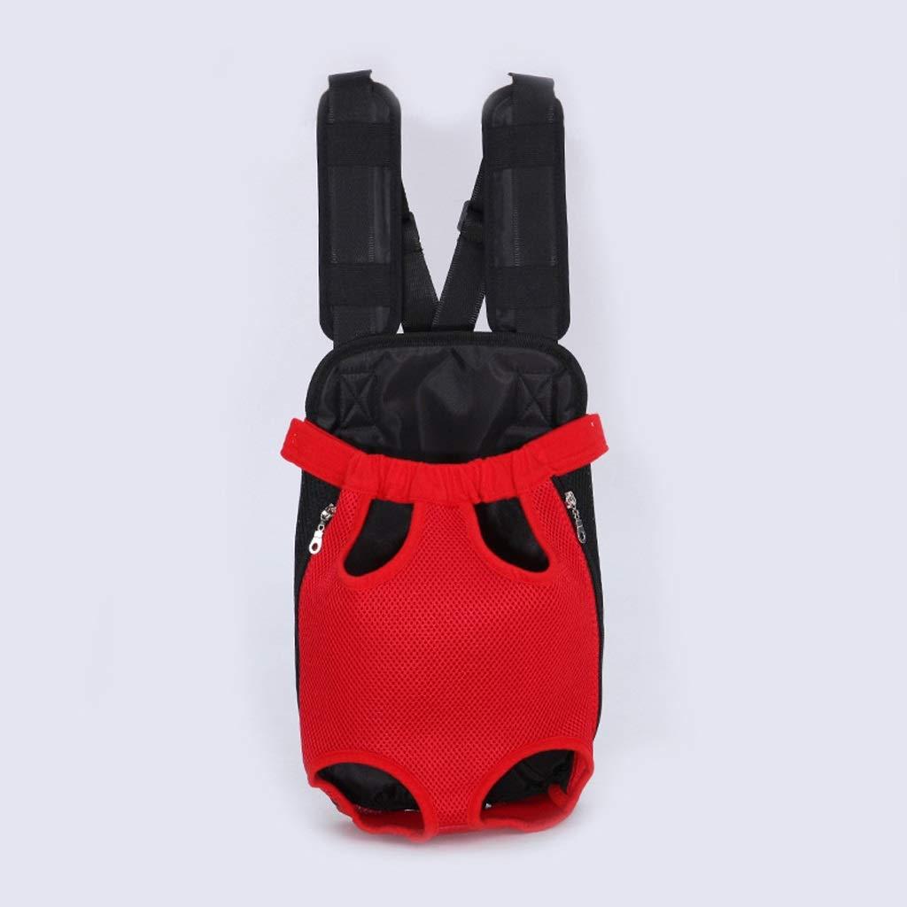 Red Medium Red Medium LKLXZD Pet Bag Pet Dog Carrier Back Pack Breathable Net Travel Dog Backpack Five Holes Pet Bags Shoulder Pets Puppy Carrier New Arrival Dog Bag,Kennel (color   Red, Size   M)