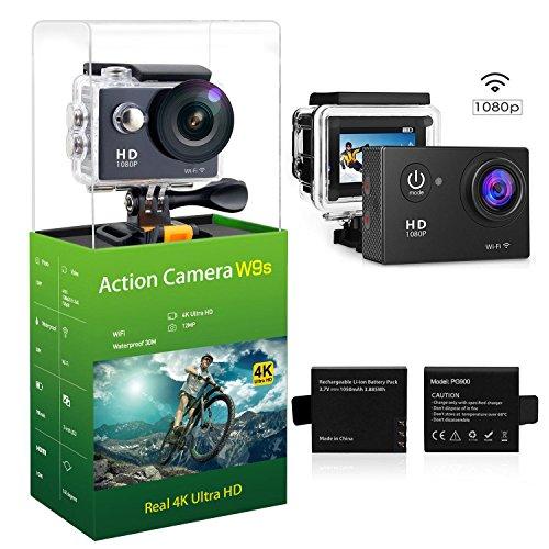 W9 12MP Sports Wi-Fi Action Camera (Black) - 6