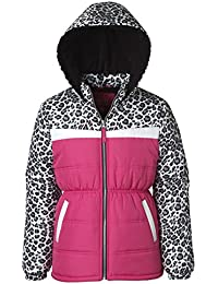 Puffer Jacket for Girls, Babies & Toddlers - Camo Colorblock Print