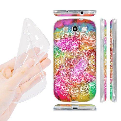 Head Case Designs Watercolour Mandala Doodles Soft Gel Back Case Cover for Samsung Galaxy S3 III I9300
