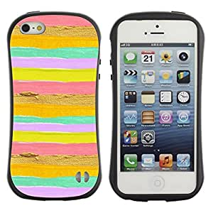Fuerte Suave TPU GEL Caso Carcasa de Protección Funda para Apple Iphone 5 / 5S / Business Style Summer Sun Yellow Gold Pink