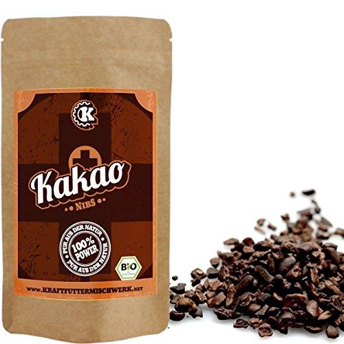 Kakao Nibs - 200g - BIO - ROH - Pure Kakaopower zum Knabbern - Herznahung pur