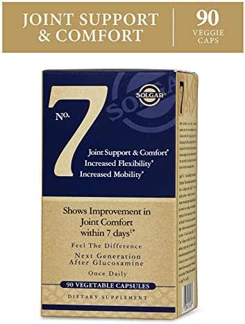Solgar No. 7 - Joint Support and Comfort - 90 Vegetarian Capsules - Increased Mobility & Flexibility - Gluten-Free, Dairy-Free, Non-GMO - 90 Servings