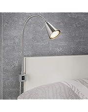 Briloner Leuchten Lampa LED Na Łóżko, Niklowy, Średnica 403mm