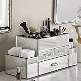 (US) OnDisplay Amara 3 Drawer Tiered Silver Mirrored Makeup/Jewelry Organizer
