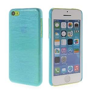 MOONCASE Brushed Hard Rubberized Devise Coating Back Case Cover For Apple iPhone 5C Blue
