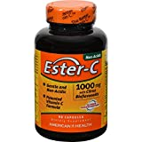 4 Pack of American Health Ester-C with Citrus Bioflavonoids - 1000 mg - 90 Capsules - - -