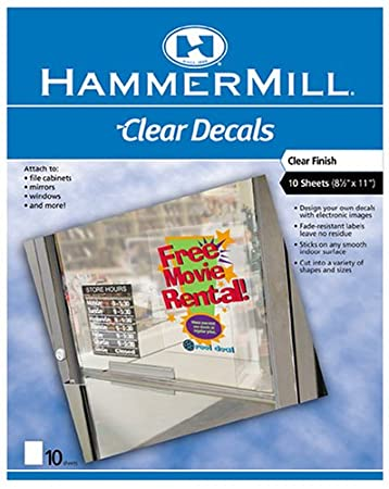 photo relating to Printable Static Cling Vinyl identify : Hammermill Inkjet Static-Hold Window Labels
