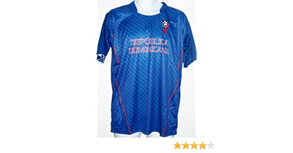 Amazon.com : DOMINICAN REPUBLIC SOCCER JERSEY T-SHIRT BLUE M MEDIUM FOOTBALL FIFA CAMISETA REMERA FÚTBOL REPÚBLICA DOMINICANA : Sports & Outdoors