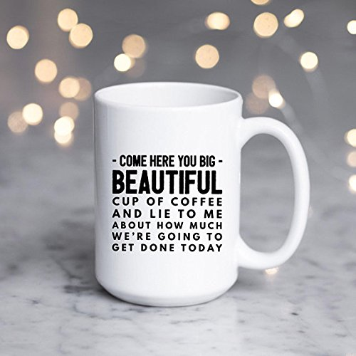 Cool Coffee Mug | Large Lazy Quote | Gift for Bestfriend | Gift-for-Her | Funny Mugs for Women | Mugs with Sayings | Message Sassy Mug Gift by SheMugs (Image #1)
