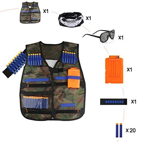 Accmor Kids Tactical Vest Jacket Kit for Nerf Guns N-Strike Elite Series (Camouflage) by Accmor (Image #6)