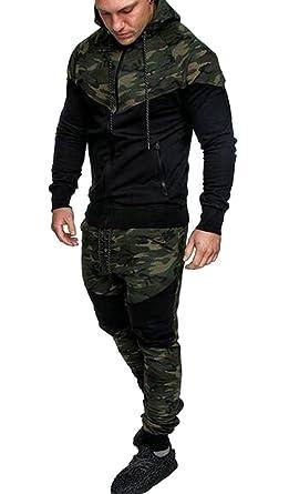 sports shoes c97f3 d510a Jotebriyo Men Hoodie Jogger Pants Athletic Camo 2 Pcs Outfits Sweatsuits  Tracksuits Sets at Amazon Men s Clothing store