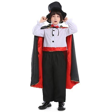 Disfraz de Mago mágico del día de Halloween para niños ...