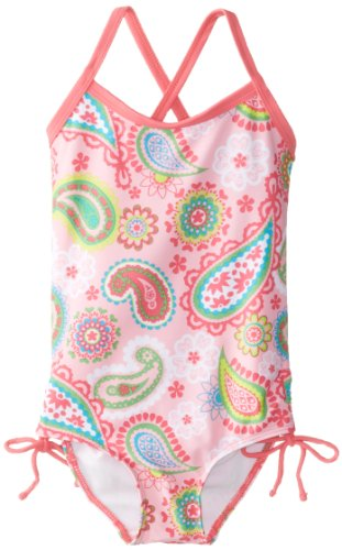 Kanu Surf Little Girls' Toddler Secret Garden One Piece Swimsuit, Pink, 3T