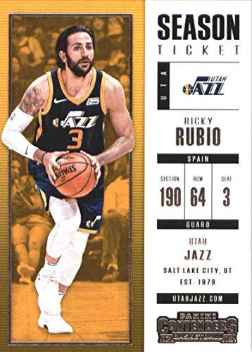 - 2017-18 Panini Contenders Season Ticket #64 Ricky Rubio Utah Jazz Basketball Card
