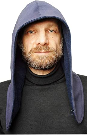 Designer Mens Headwear Bonnet 3 in 1 Collar-Snud Scarf Men Hood Mens Hat  Cap Mens Warm Skull Outdoor Mens Beanie … Navy Blue at Amazon Men's  Clothing store