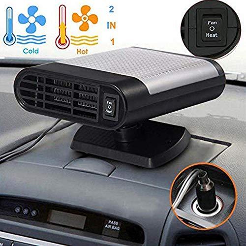 Shenlin Car Heater, 12V 150W Car Vehicle Electric Auto Hot Warm Heater Fan Fast Heating Dryer Window Windshield Fan Defroster Demister (Gray)