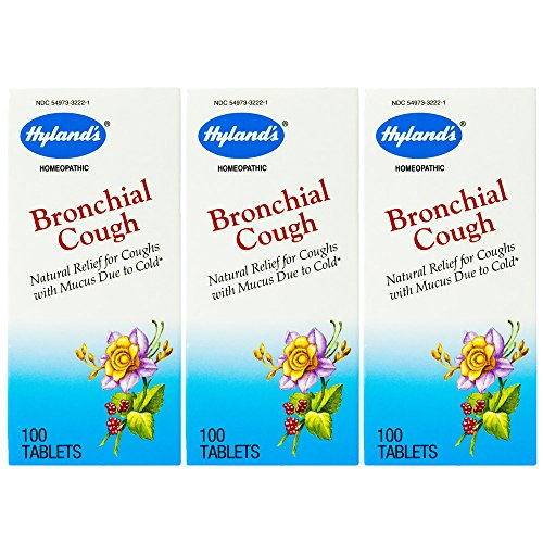 Hyland's Bronchial Cough, Tablets, 100 tablets (Pack of 3)