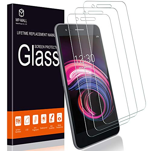MP-MALL [3-Pack] Screen Protector for LG Aristo 3 / LG Tribute Empire, [Tempered Glass] with Lifetime Replacement Warranty ()
