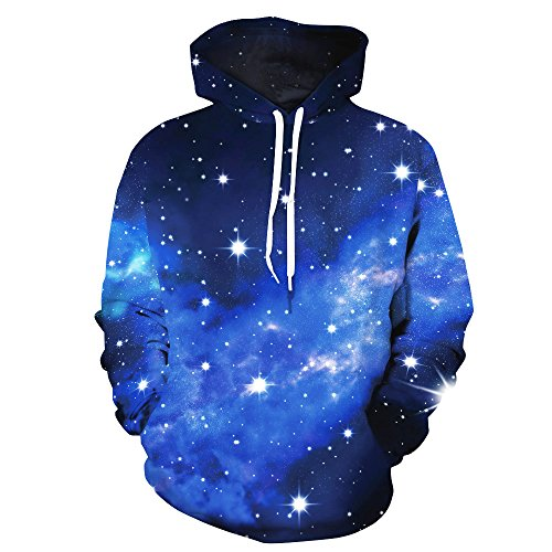 SAYM Unisex Galaxy Pockets 3d Pullover Hoodie Hooded Sweatshirts Hoodies NO24 S (Cashmere Twin Set Cotton)