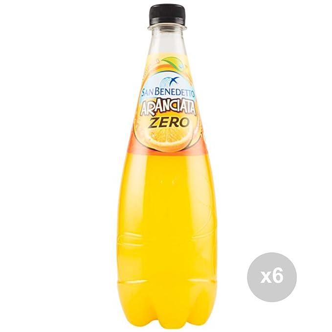 Set 6 SAN BENEDETTO Cero Naranja 750 ml botella de refresco para fiestas