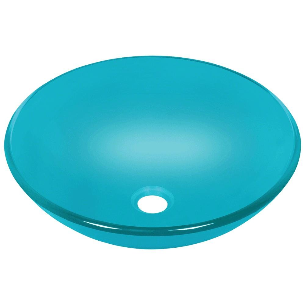 601 Turquoise Coloured Glass Vessel Sink by MR Direct