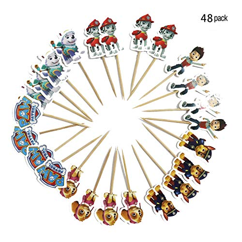 - Cupcake Toppers Paw Patrol Cupcake Toppers Cake Decorations Wrappers Double Sided Dog Patrol Cake Topper Party Cake Decorations Set Birthday Party Supplies 48picks 6 Cartoon Cupcake Toppers Shapes